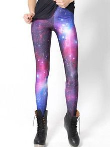 Leggings galaxie imprimée amincissants - Multicolor