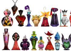 The voluminous amount of Disney fanart demands that a project be truly unique to stand out from the pack. These clever Disney villain perfume bottle illustrations fit the bill . Disney Magic, Disney Dream, Style Disney, Disney Amor, Disney Love, Evil Disney, Disney E Dreamworks, Disney Pixar, Disney Perfume