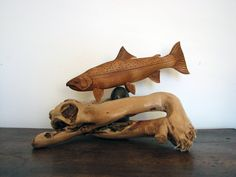 steelhead trout 1 by olivelebasque on DeviantArt Fish Wood Carving, Wood Carving Faces, Dremel Wood Carving, Wood Carving Designs, Wood Carving Patterns, Bone Carving, Wood Carvings, Fish Sculpture, Wood Sculpture