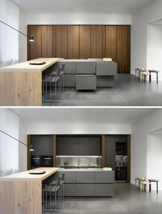 T30 EVO Walnut #kitchen by @tmitaliacucine #design