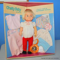 CHATTY BABY GIFT SET IN ORIGINAL BOX #329 from 1962! RARE! VINTAGE MATTEL #DollswithClothingAccessories