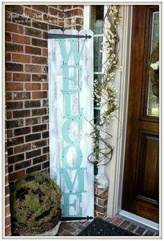 Front door/porch sign