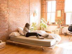 A Minimal Platform Bed for City Living