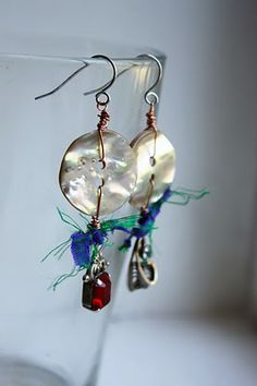 Venus Soberanes - Found Object Jewelry: Button earrings
