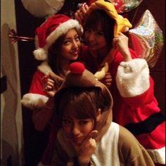 Tomochin, Mariko and Takamina, Xmas Edition #AKB48