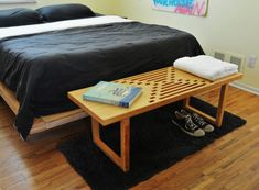 Mesa de centro de madera contrachapada de abedul por WorkshopHoney