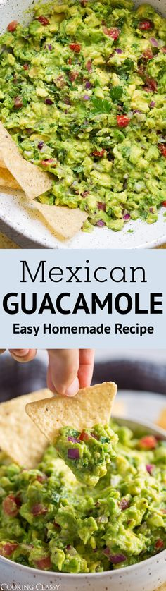 Guacamole - the best! Better than the restaurants and so easy. #guacamole #mexicanfood #easyrecipe