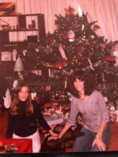 #TBT holiday time in the mountains in the early 80's with my daughters.