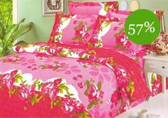 Sai Arpans Designer Double Bed Sheet With 2 Pillow Covers