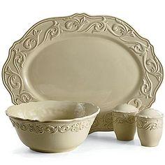 Chris Madden® Corvella Dinnerware u0026 Serveware Collection - jcpenney  sc 1 st  Pinterest & Dinnerware Chris Madden® Corvella - jcpenney | Tuscan style ...