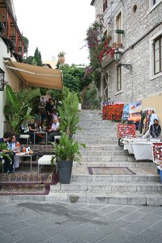 Taormina, Sicily, Italy. The place with the weird strawberry mojitos
