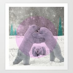 Polar dance Art Print by Shane Thompson - $17.68