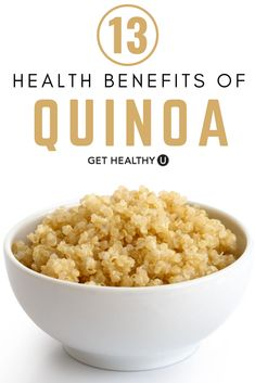 Quinoa is one of the world's most popular health foods, recognized for its high levels of protein, fiber, and many other nutrients as well as being on Get Healthy, Healthy Meal Prep, Healthy Eating, High Protein Snacks, High Protein Recipes, Low Calorie Recipes, Quinoa Health Benefits, Health Foods, New Recipes