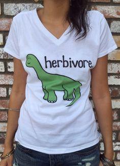 herbivore brontosaurus tee - women's