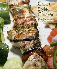 George Foreman's Greek Style Chicken Kebabs: fresh ingredients, perfectly grilled, that can satisfy even a heavyweight-champion-of-the-world appetite!