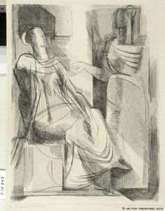 Tuulikki Pietilä, Finland, 1917-2009. Colloquio di donne, 1952 - akvatinta Printmaking, Drawings, Illustration, Prints, Graphics, Inspiration, Image, Finland, Museum
