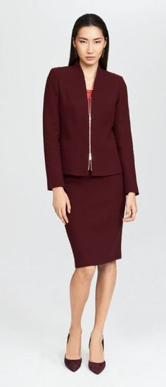 Norelle Jacket and the Nouveau Crepe Modern Slim Skirt