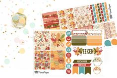 Planner Stickers Weekly Kit Earthy Autumn for your Erin Condren Life Planner…