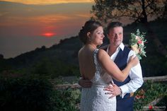 Sorrento wedding at sunset on the Amalphi coast in Italy