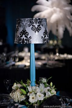 Lamp Centerpiece Banquet Centerpieces Wedding Reception Ideas Centrepieces