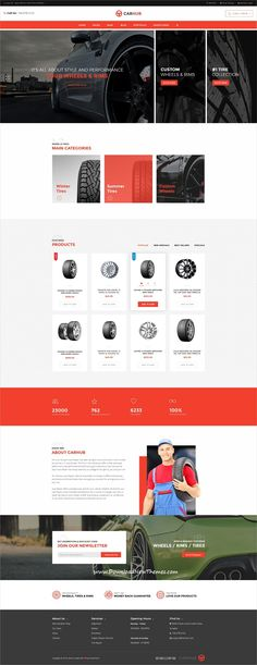 Carhub is clean and modern design PSD template for #automotive #garage and dealers website with 6 homepage layouts and 29 layered PSD pages to live preview & download click on Visit  #psdmockups