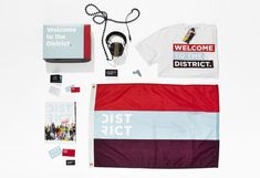 District by Steve Cullen, via Behance  Nice brand showing color blocking.