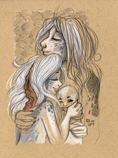 Snoozing Selkies by StressedJenny.deviantart.com on @deviantART