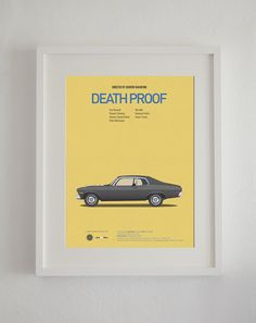 Death Proof inspired movie poster, art print A3 Cars And Films