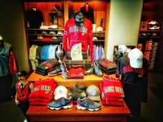 Blackhawks golf shop display Traditions at Chevy Chase