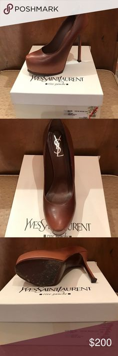 YSL - Yves Saint Laurent platform pumps YSL Nappa Degrade Pump - Nude/brown color - worn twice - size 40.5 - darling but too tall for me now. Yves Saint Laurent Shoes Platforms