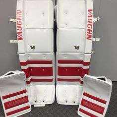 Here's Jared Coreau of the Grand Rapids Griffins' new V6 setup from Vaughn Custom Sports!