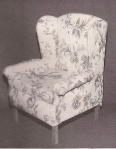 Make Your Own Doll-size Wing Chair - Pattern and Instructions