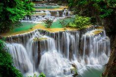 Huay Mae Khamin waterfalla, Thailand