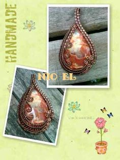 Druzy Wire Wrap Pendant. Design and Made by NiO-EL