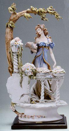 "J105-696-EGIUSEPPE ARMANI FLORENCE FIGURINE-""Armani The Flower-Girl""- $2,400.00"
