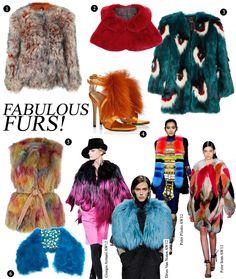 Crazy Coloured Furs That'll Make Winter Fun