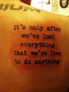 Fight Club Quote Tattoo - Self