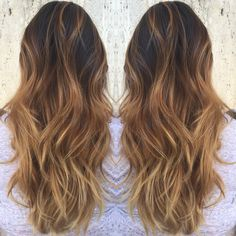 Caramel/smokey balayage ombré by Taylor Steingold #HairByTaylorSteigold