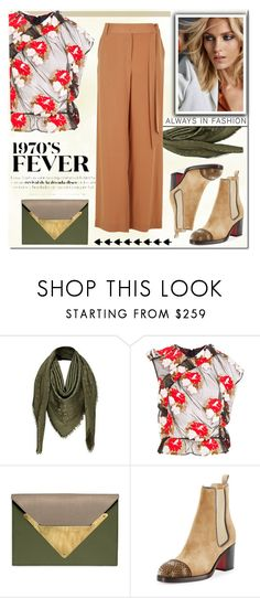 """1970"" by antal-era ❤ liked on Polyvore featuring Louis Vuitton, Simone Rocha, Anja, Dareen Hakim, Christian Louboutin, TIBI, outfit, polyvoreeditorial, polyvorestyle and polyvorefashion"