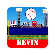 Fun Kids Sport Personalized Baseball Stickers Gift