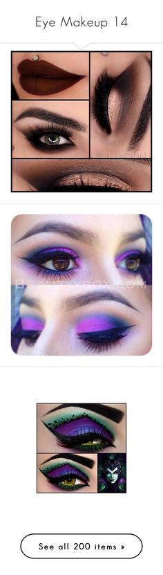 """""""Eye Makeup 14"""" by meranda-joi ❤ liked on Polyvore featuring beauty products, makeup, eye makeup, eyes, beauty, lips, palette makeup, eye brow makeup, eye tattoo makeup and eyebrow makeup"""