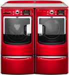 Spice up your laundry room with a red washer and dryer!