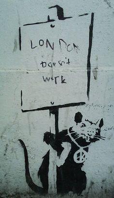 banksy rat   Flickr - Photo Sharing!
