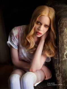 Diandra Forrest - first African American albino model. Unique and beautiful.