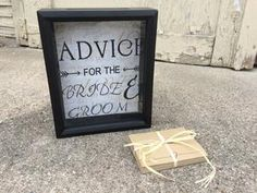 Alternative Guest Book, Wedding Guest Book, Wedding Advice, Wedding Shadow Box , Advice Box, Wedding Card Box, Guest Book Ideas, Wedding Box