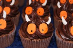 The grandchildren will love making (and eating ) these mini Gruffalo cakes Cupcakes, Cupcake Cakes, Gruffalo Party, Let Them Eat Cake, How To Make Cake, Afternoon Tea, Amazing Cakes, Kids Meals, 2nd Birthday