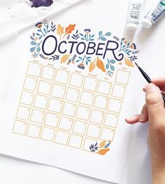 October is here! What a fun month. To celebrate, I've created a free October calendar for you to download. Details are on our blog (link in profile) Happy October! #happyoctober