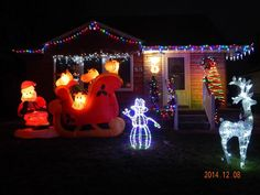 """""""Our family loves Merry Christmas and our new Santa and the Reindeer is nice."""" City: Lincoln Park 