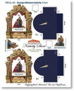 Baroque Miniature Nativity 1 Sheet - PaperModelKiosk.com
