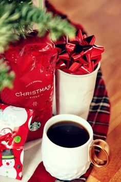 Coffee Christmas Morning.Pinterest
